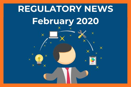 regulatory news banner febuary 2020