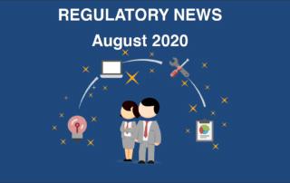 Regulatory news August 2020